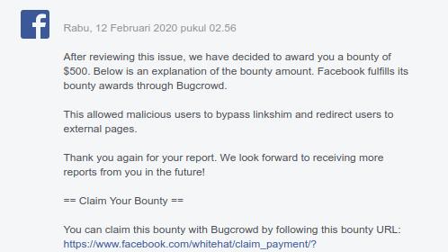 Open-redirect on Facebook (Bypass Linkshim)