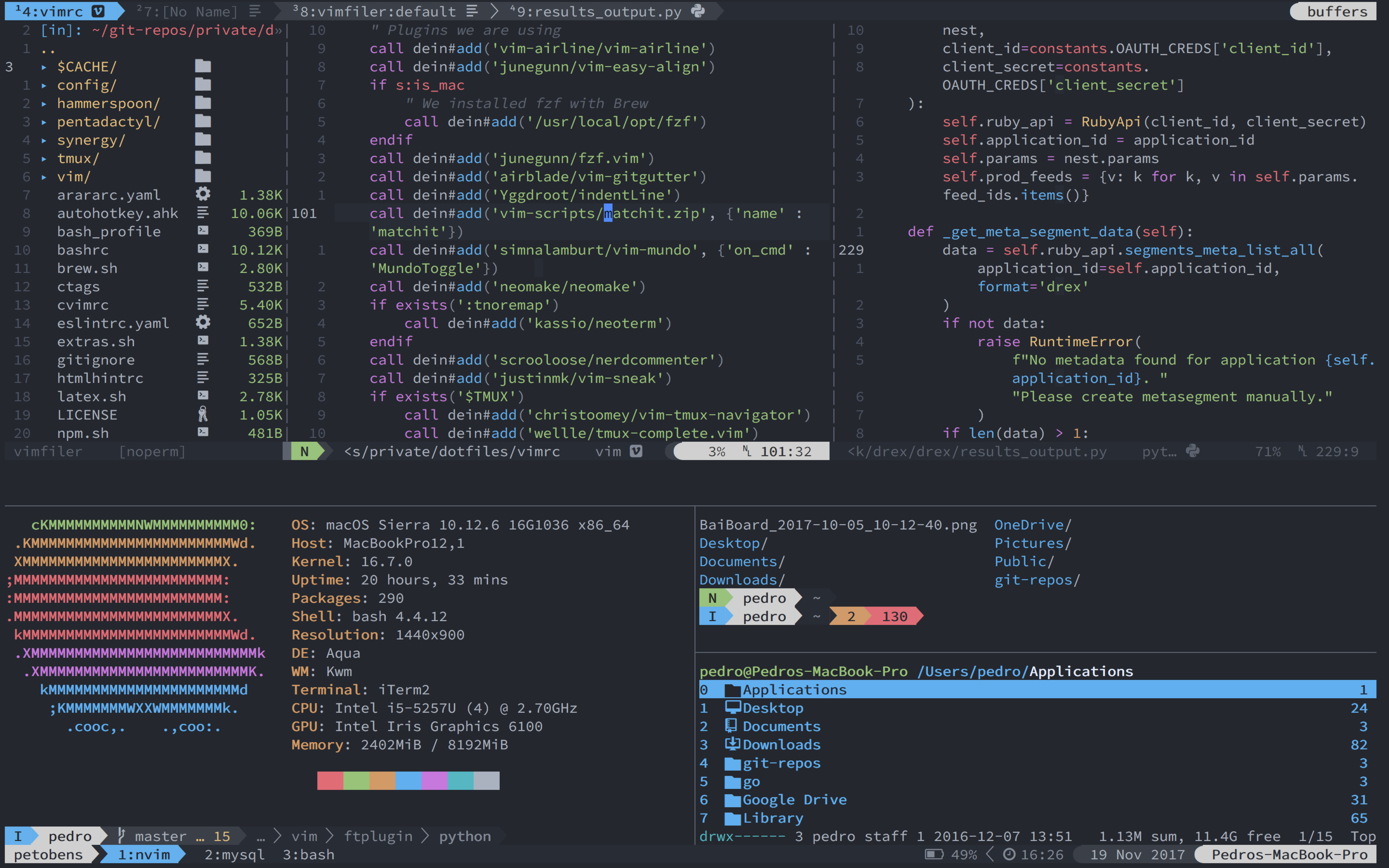 GitHub - petobens/dotfiles: My dotfiles for OSX and Arch