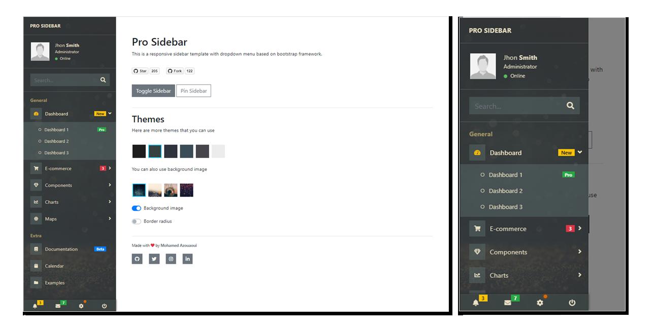 GitHub - azouaoui-med/pro-sidebar-template: Responsive sidebar