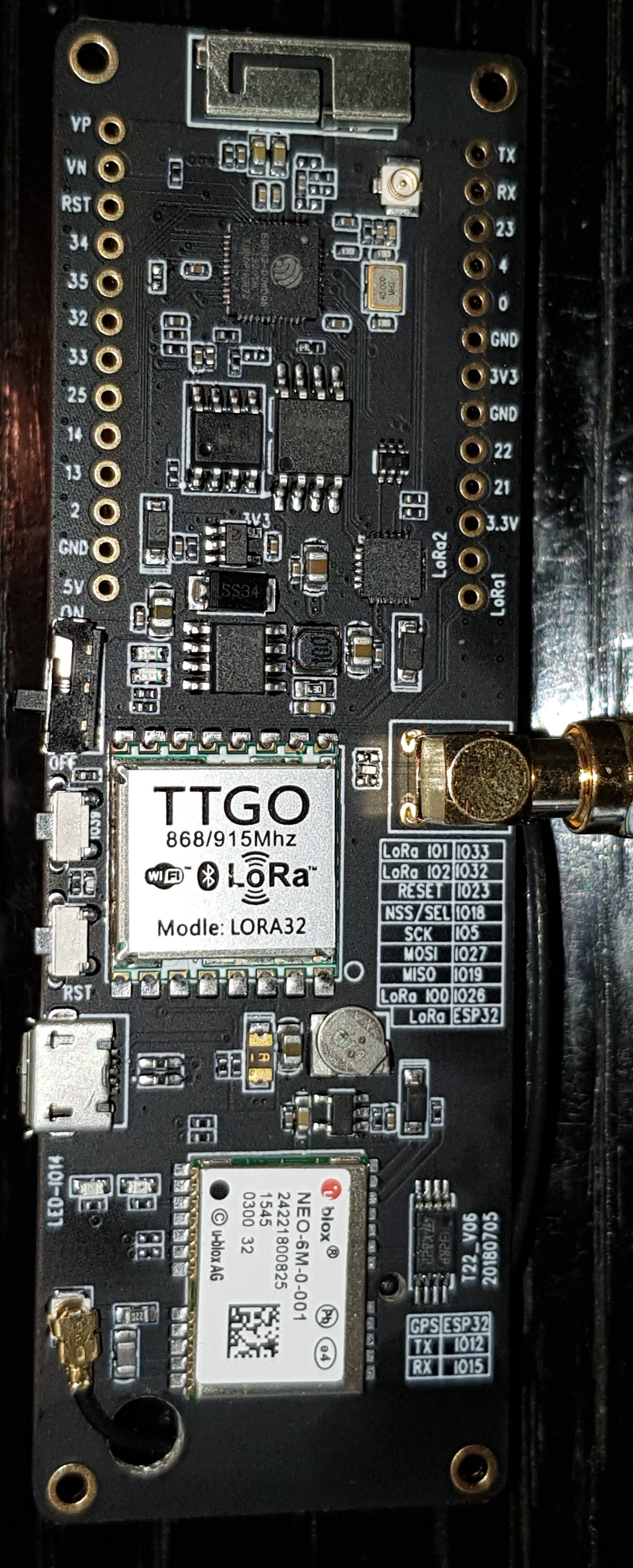 Picture of layout does not match my board  · Issue #2 · LilyGO/TTGO