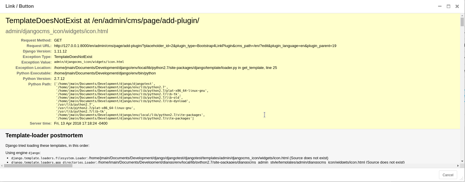 Button/Link app Missing Template Error · Issue #34 · divio/djangocms ...