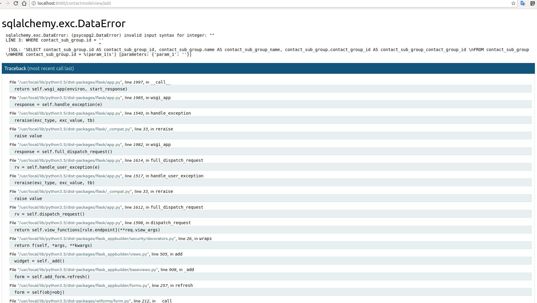 Select2SlaveAJAXWidget doesn't working with PostgresSQL