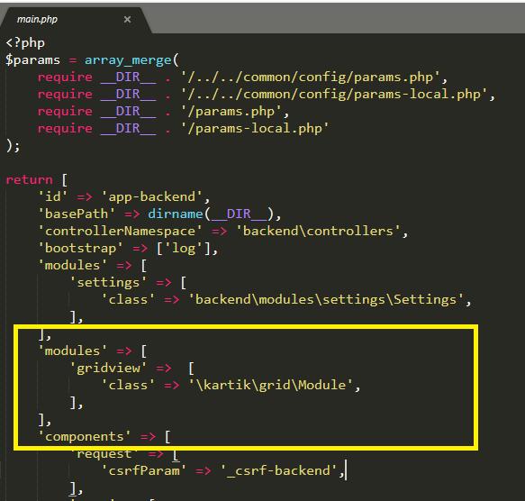 Setting unknown property: kartik\grid\SerialColumn::order · Issue