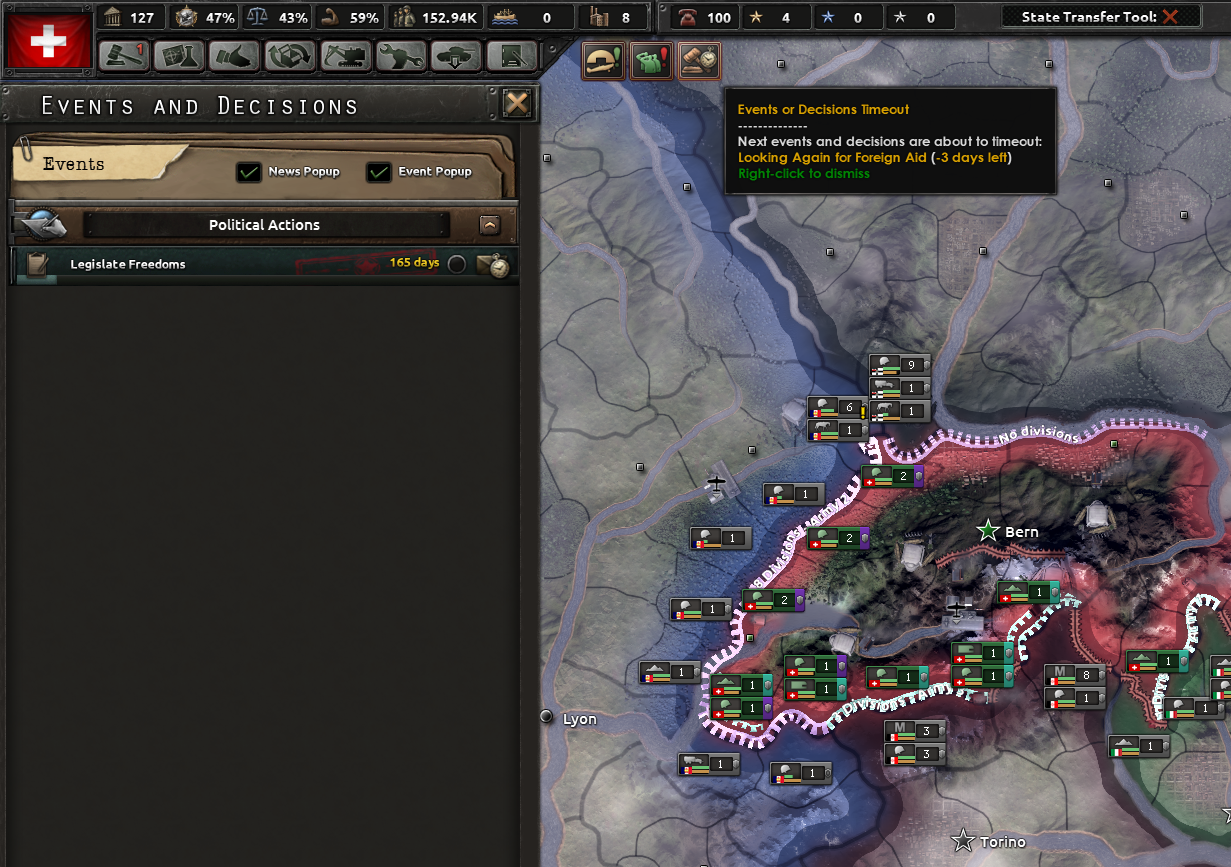 Switzerland Populist Branch not working as intended (Event