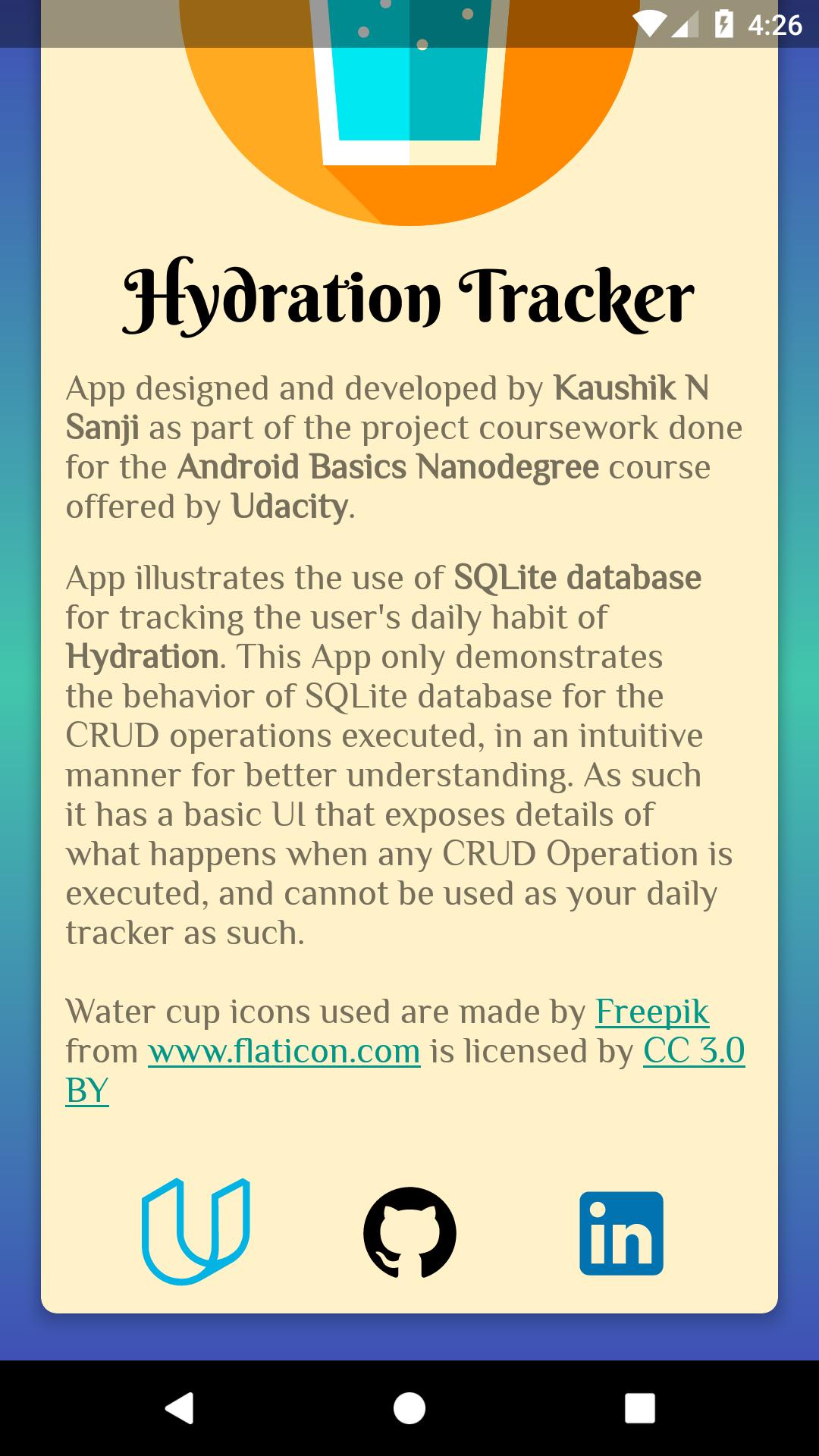 GitHub - kaushiknsanji/HydrationTracker_Demo_App: App illustrating