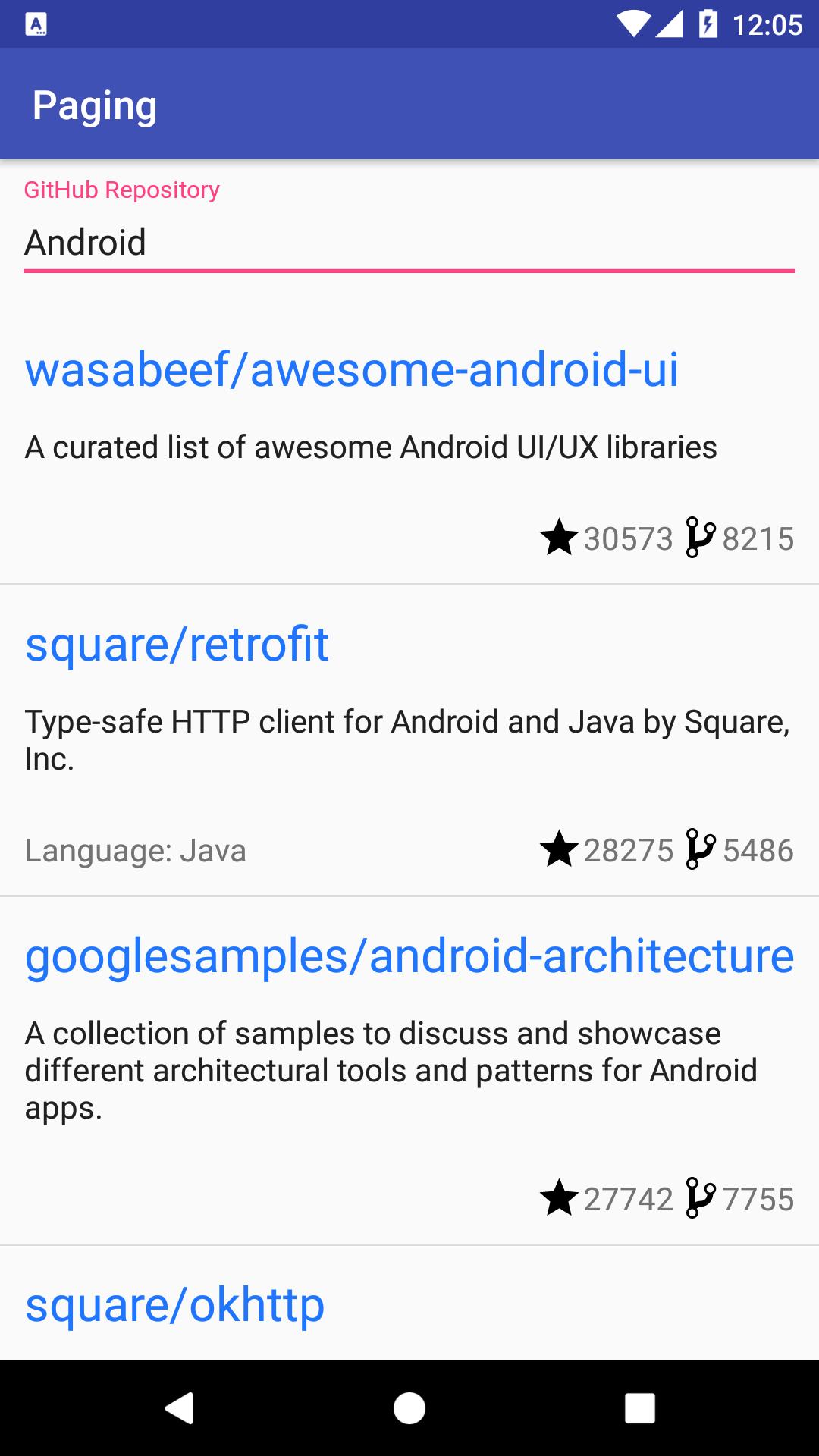 GitHub - kaushiknsanji/PagingSampleCodelab: Android App done as part