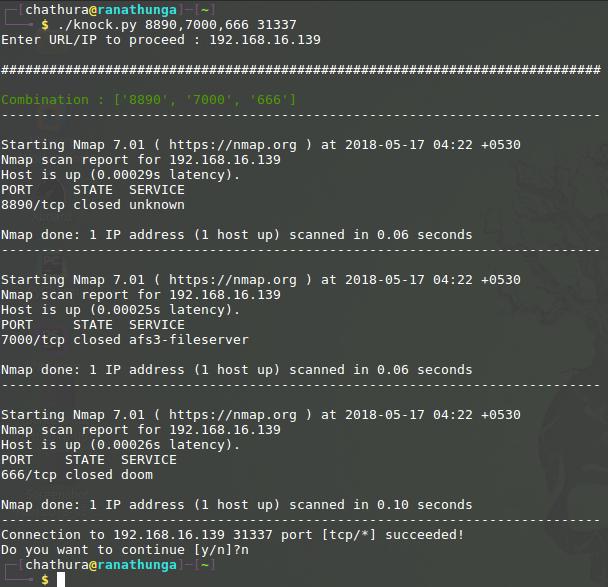 GitHub - ChathuraDR/portKnoking_Tool: Simple python port