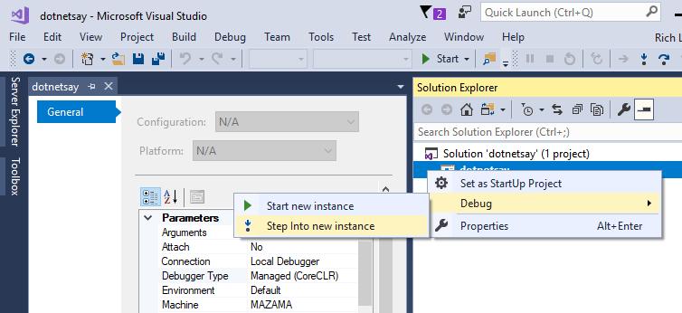 debugging-dotnetsay-configure