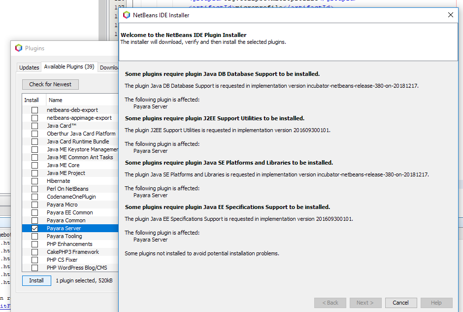 Payara Plugin not installable on Netbeans 11 · Issue #26