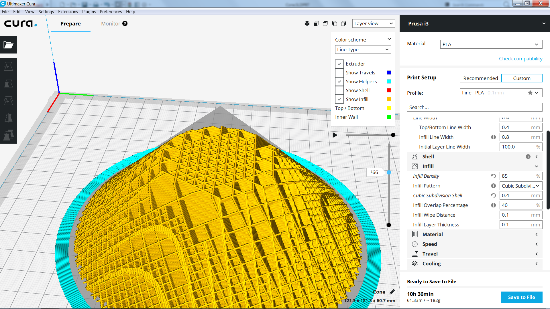 Using Adaptive Layers Causes Cubic Subdivision to Slice