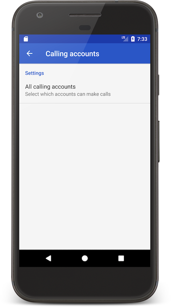 CordovaCall All calling accounts Android ConnectionService