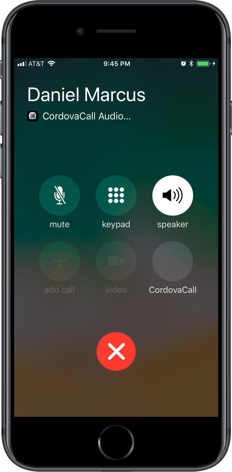 CordovaCall Send Call iOS CallKit