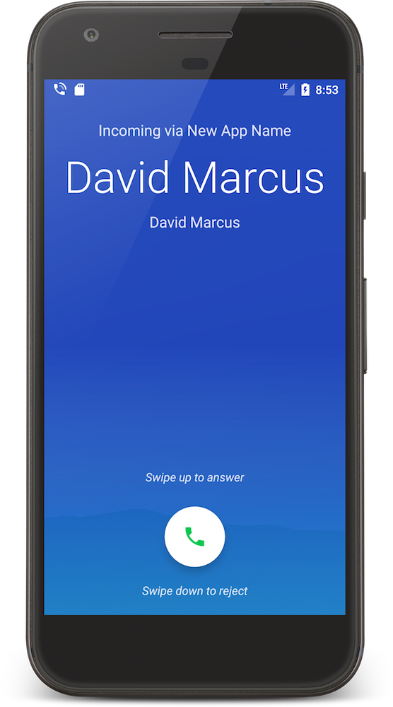 CordovaCall Change App Name Android ConnectionService