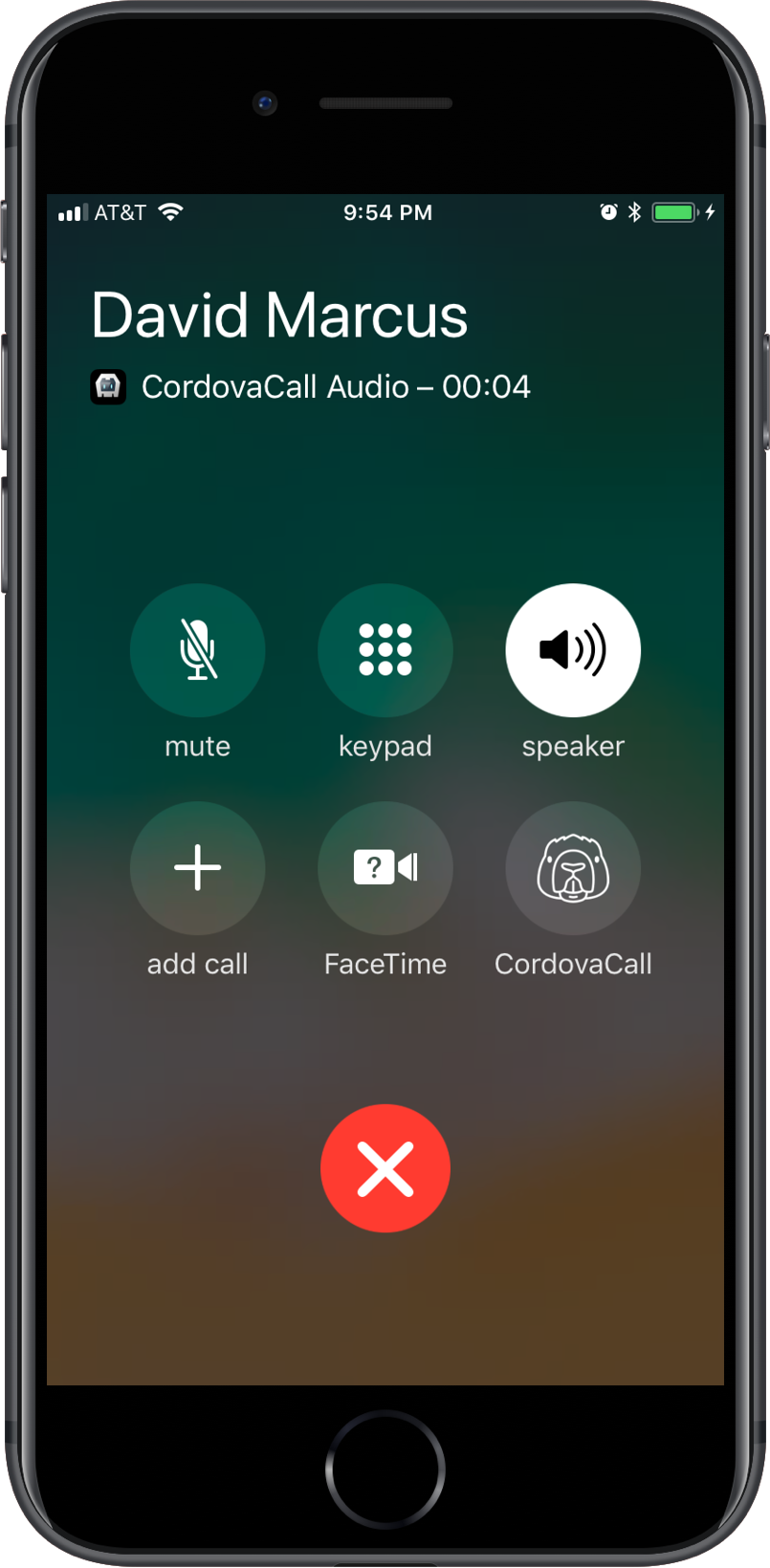 CordovaCall Custom Icon iOS CallKit