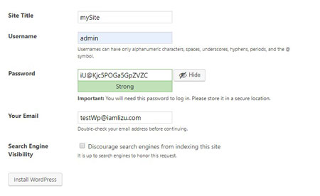 wordpress tutorial for beginners - wordpress site information