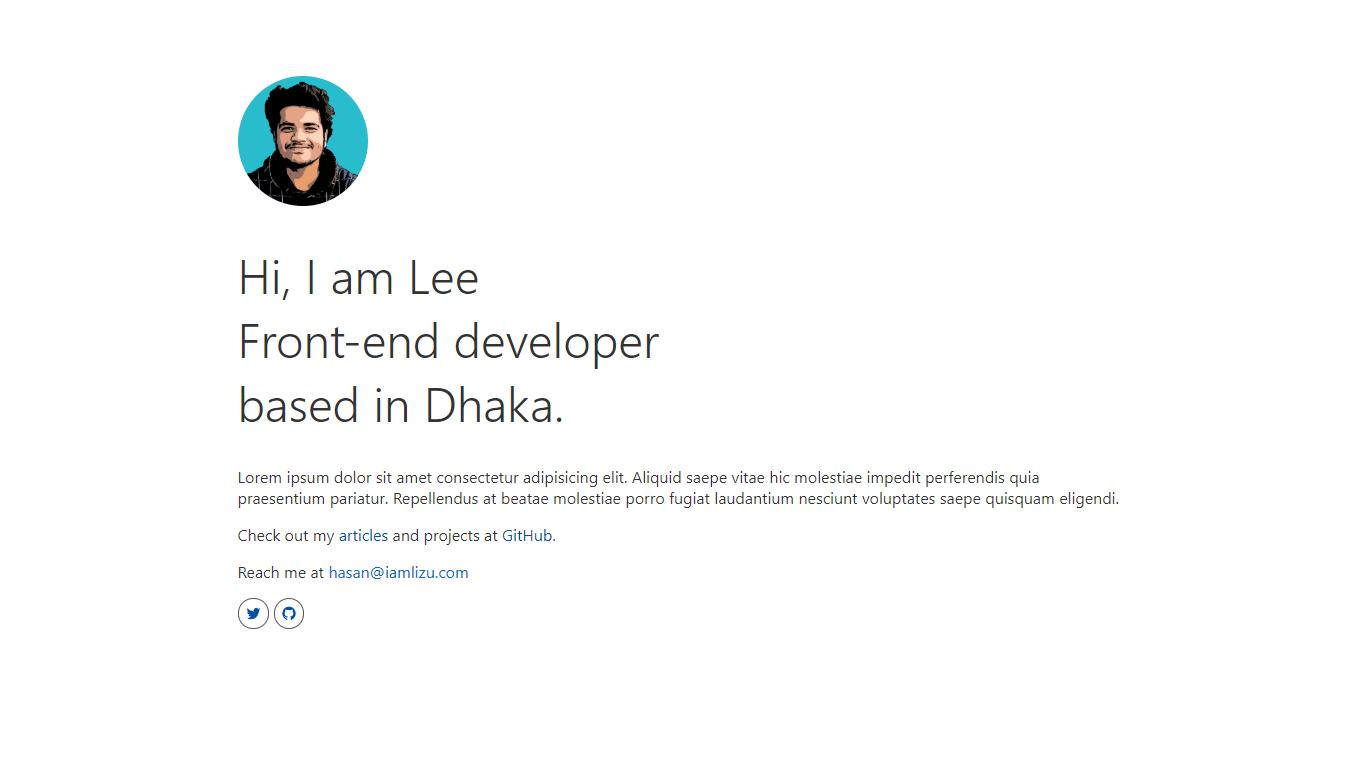Personal website in svelte