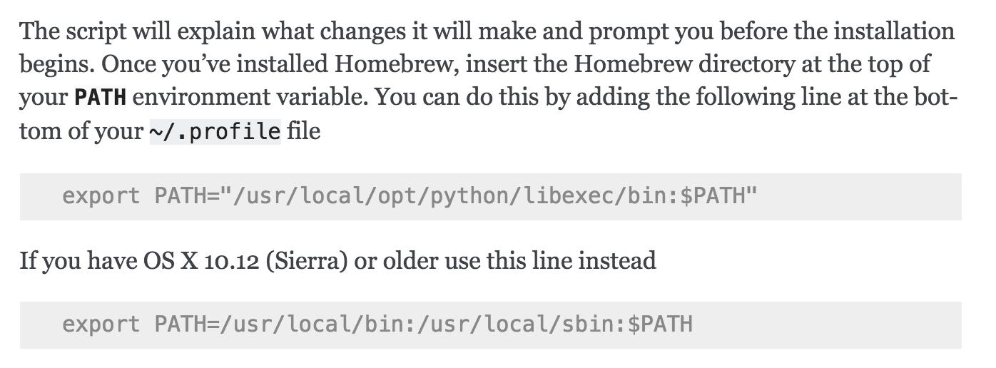 Describing making Python 3 the default `python` under Homebrew