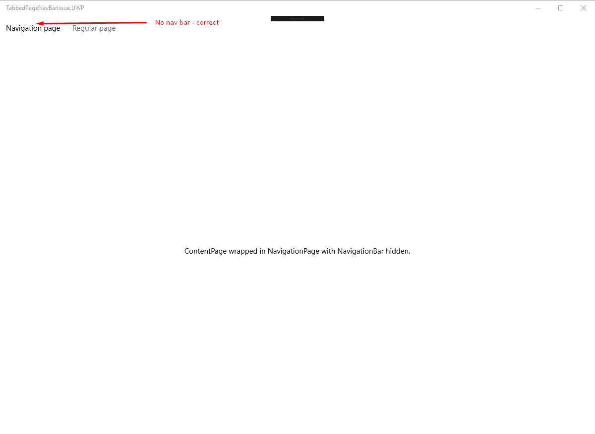 NavigationPage SetHasNavigationBar bar is broken for TabbedPage