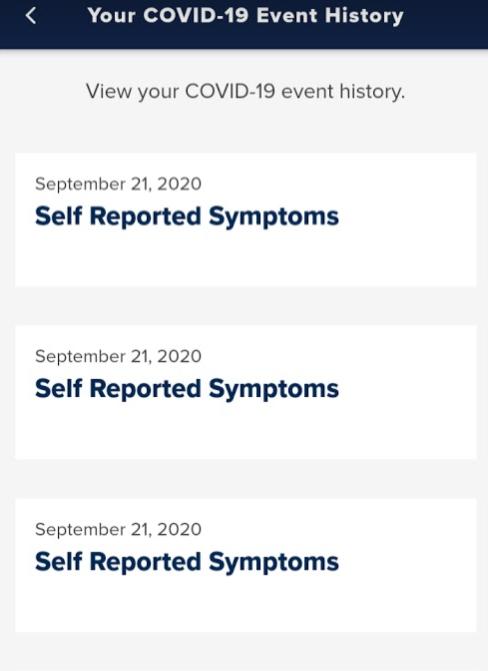 symptom history