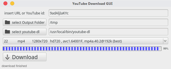 GUI for youtube-dl (PyQt5)