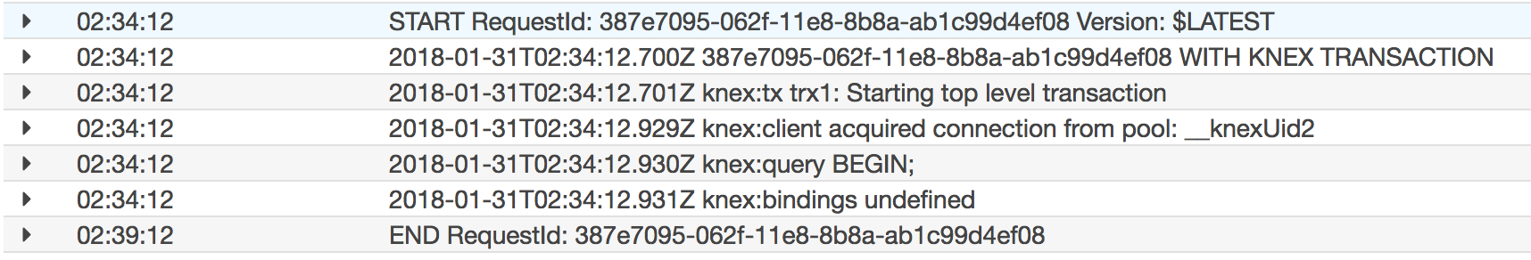 Transactions hanging in AWS Lambda · Issue #2445 · tgriesser/knex
