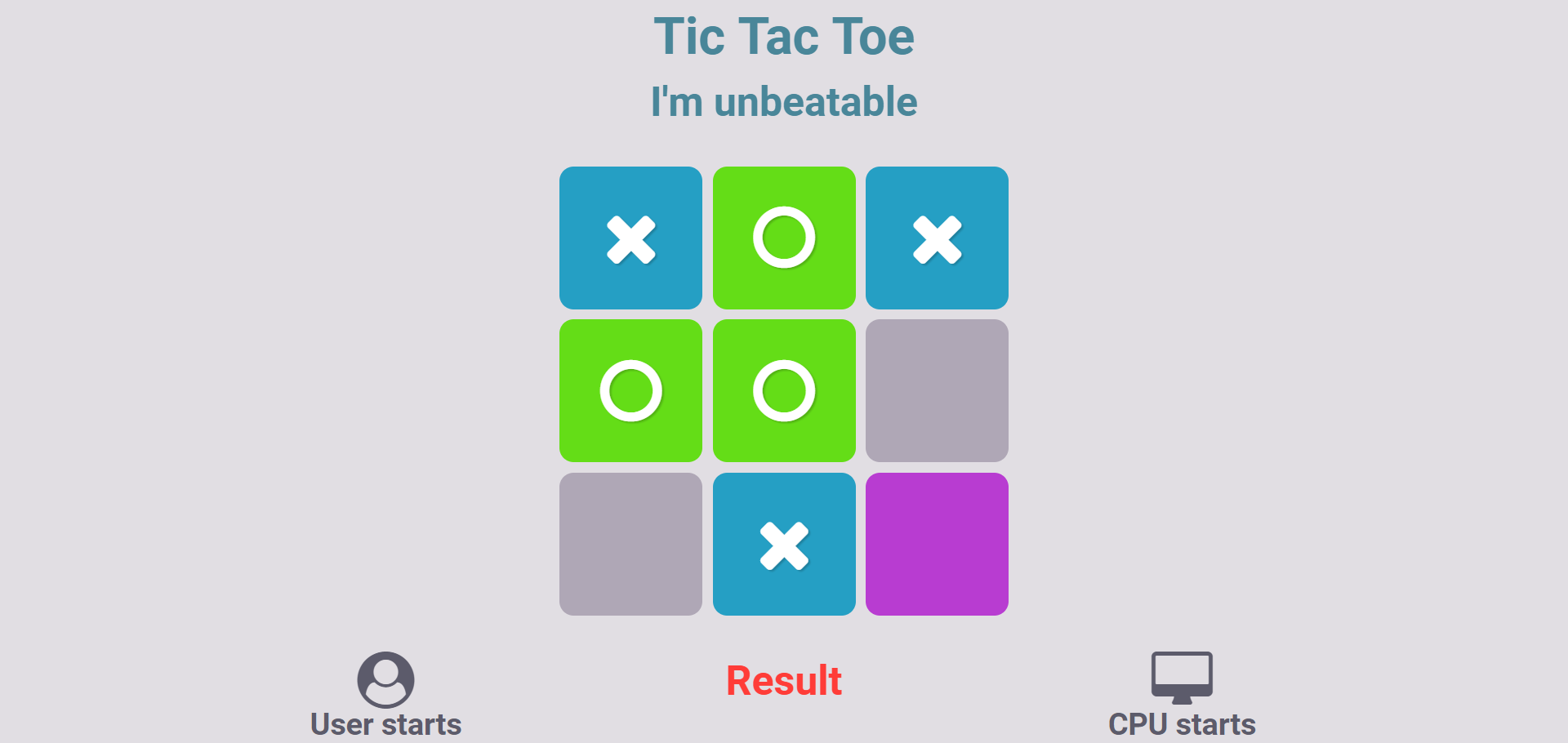 GitHub - AK-007/Tic-Tac-Toe: A JavaScript implementation of