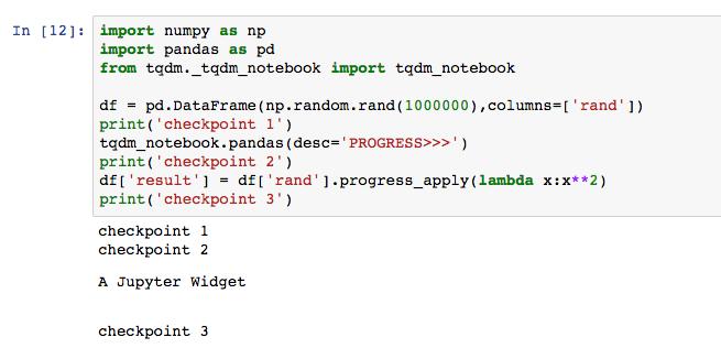Function tqdm_notebook has no attribute 'pandas' (Jupyter) · Issue