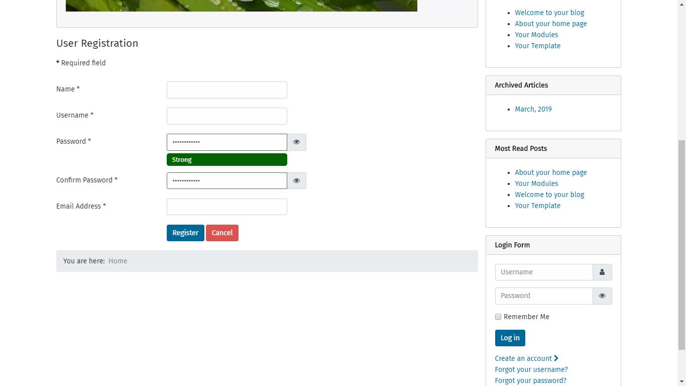 Joomla! Issue Tracker | Joomla! CMS #24404 - [4 0] Added