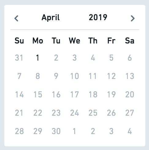 Make Date Picker that supports month-level granularity