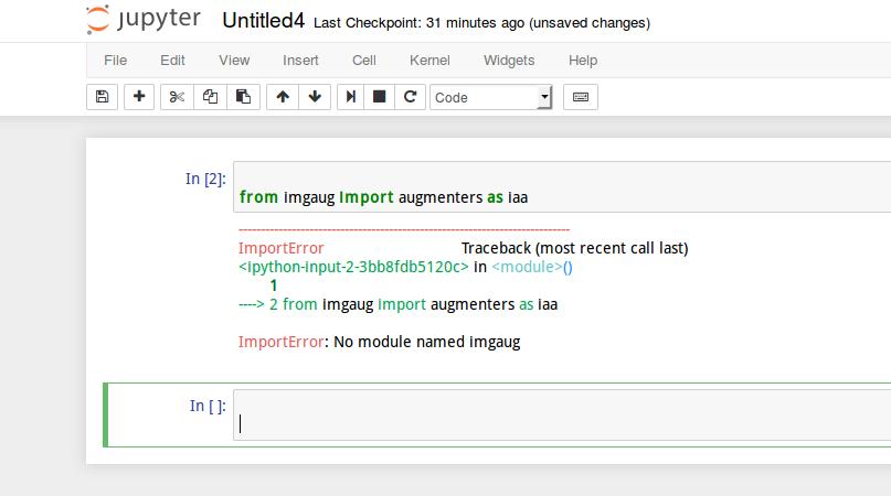 loading imgaug in python scripts vs in jupyter notebooks