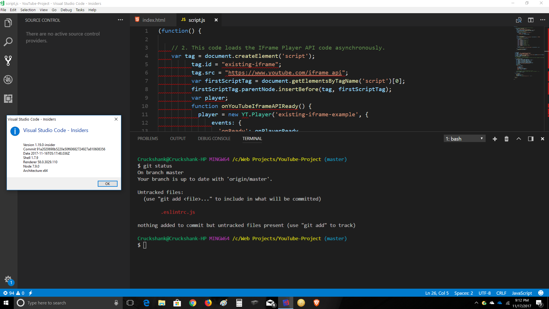 Updated VS Code Insiders and lost Git integration · Issue