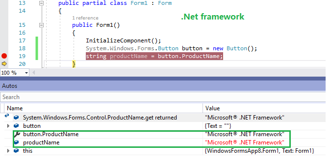 Winforms controls' ProductName property should have a