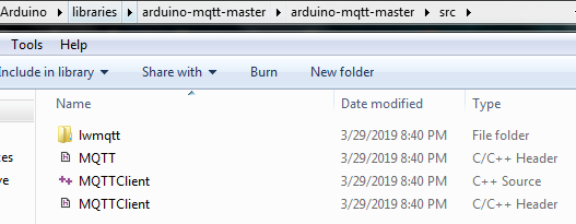 MQTT h: No such file or directory