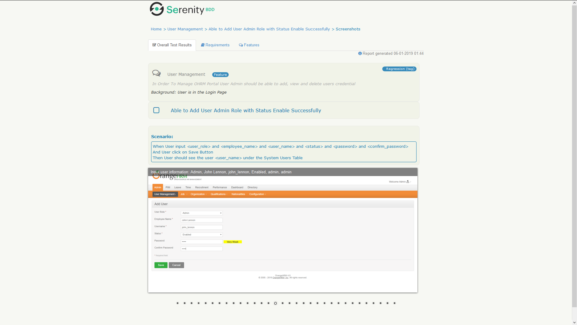 serenity bdd cucumber html report sample 3