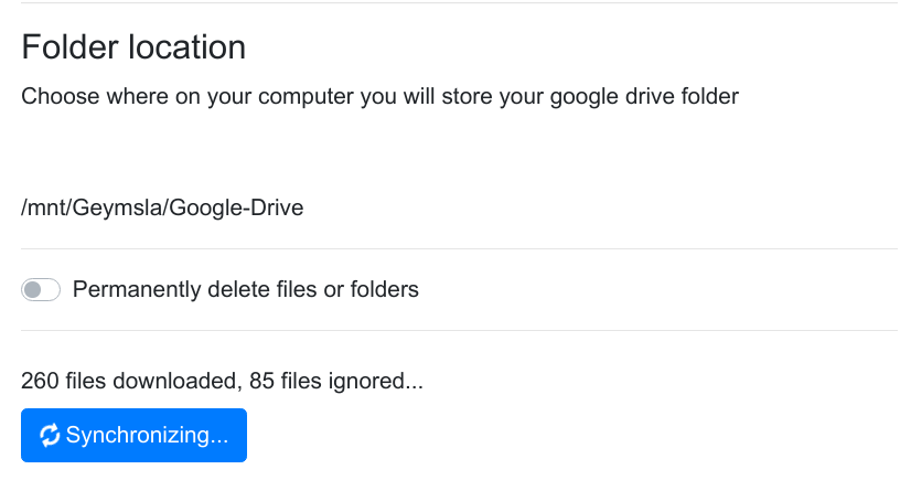 Unable to sync to Google Drive · Issue #64 · liberodark