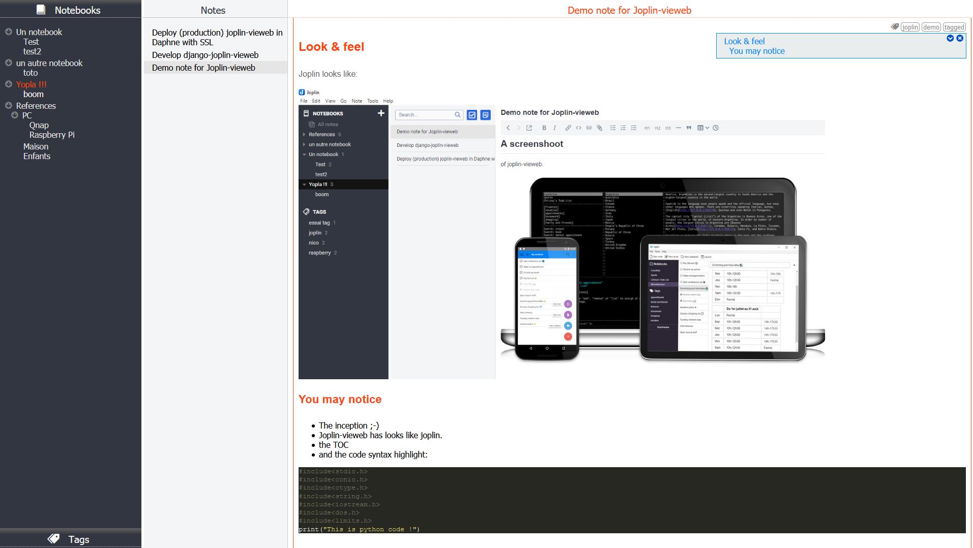 joplin-vieweb-screenshot