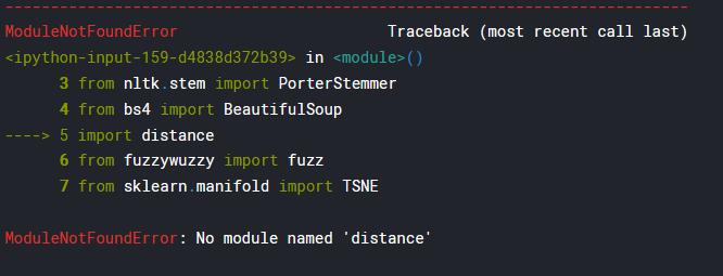 Getting module not found error · Issue #471 · Kaggle/docker-python