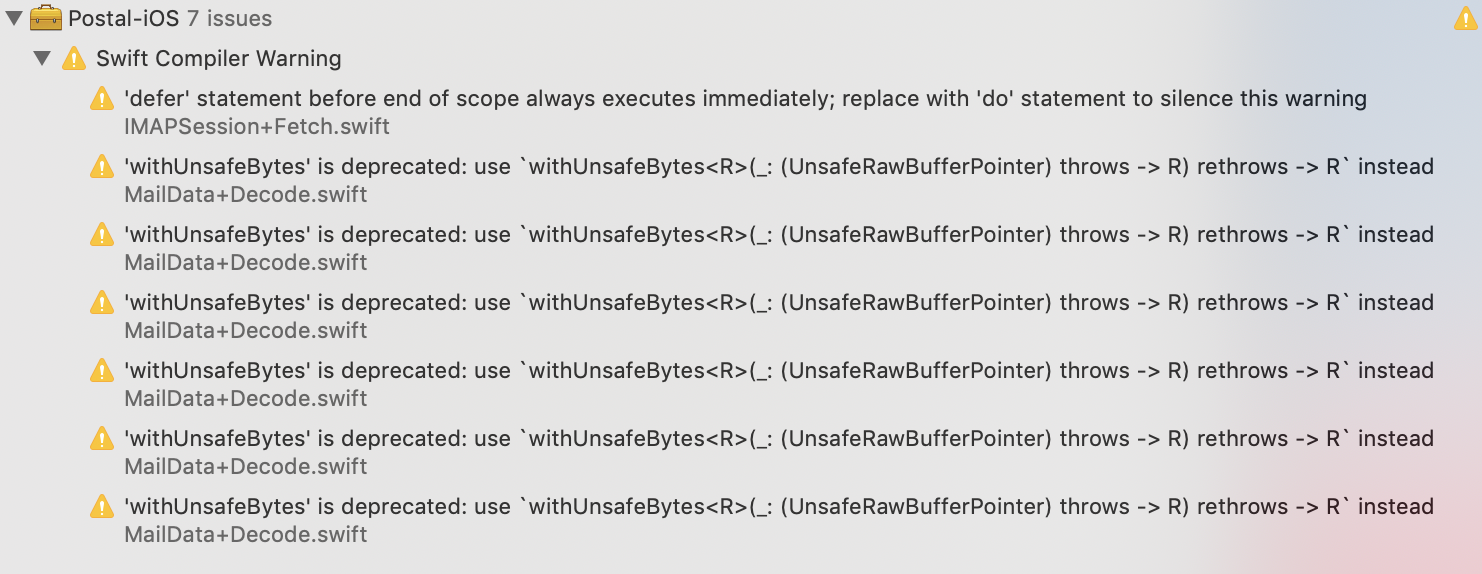 Clean up from Xcode 10 2 changes · Issue #84 · snipsco