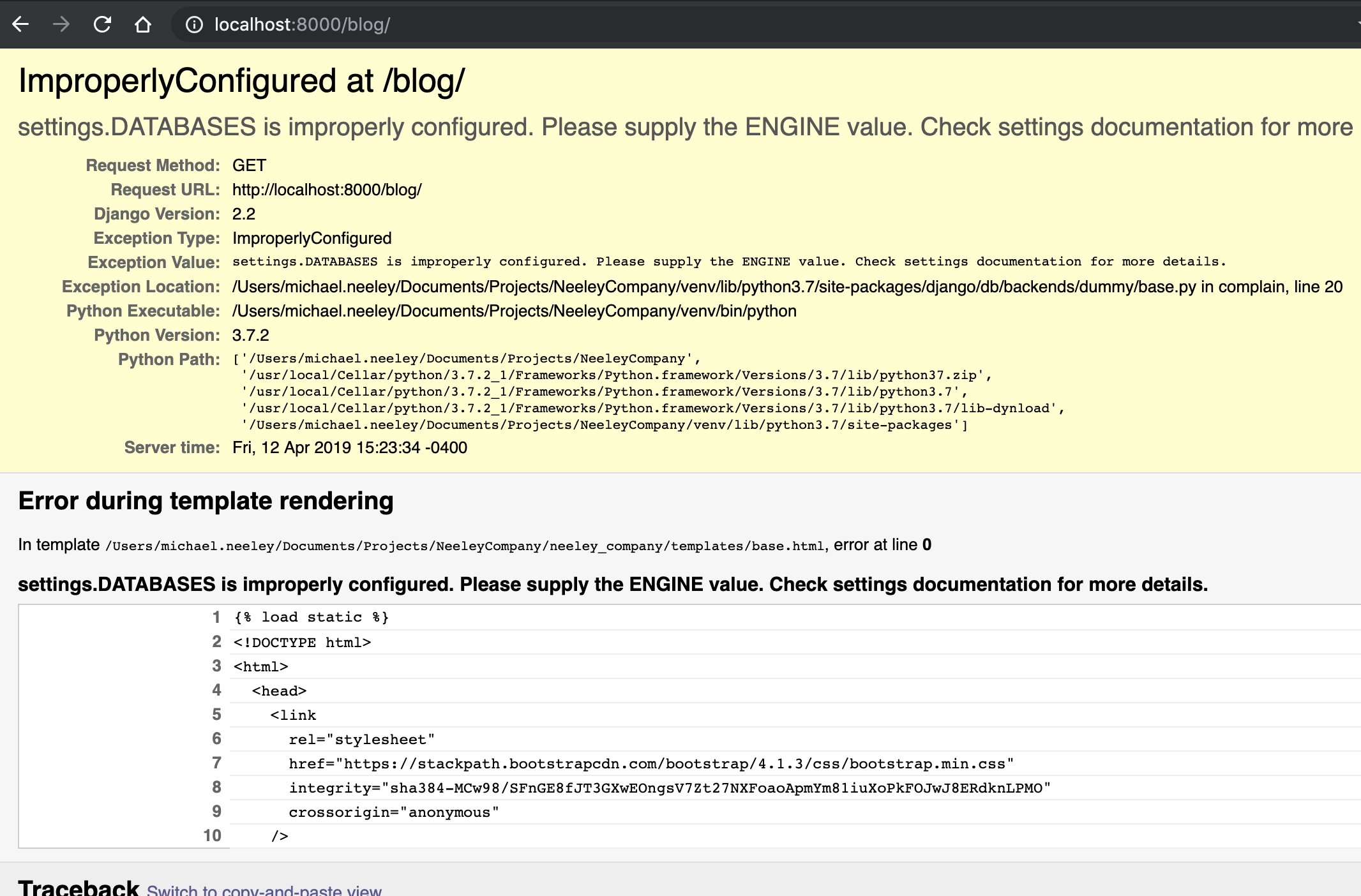 Django not working with @now/python@canary · Issue #376