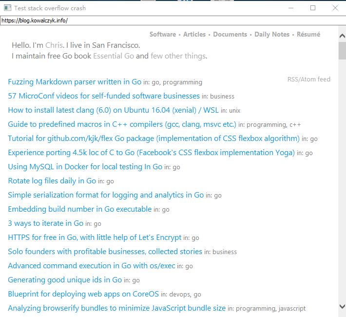 cmd pile runtime investigate Windows stack overflows