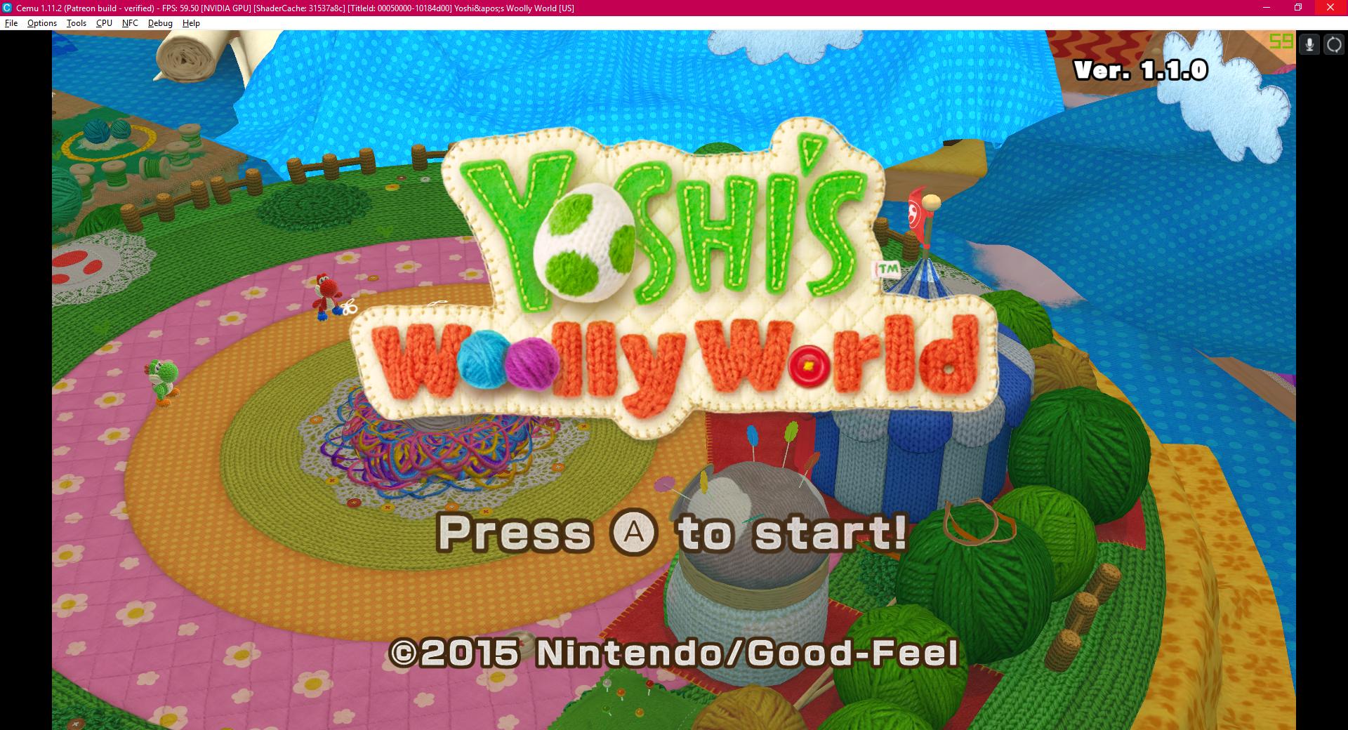 Yoshi's Woolly World - graphic packs break map screen