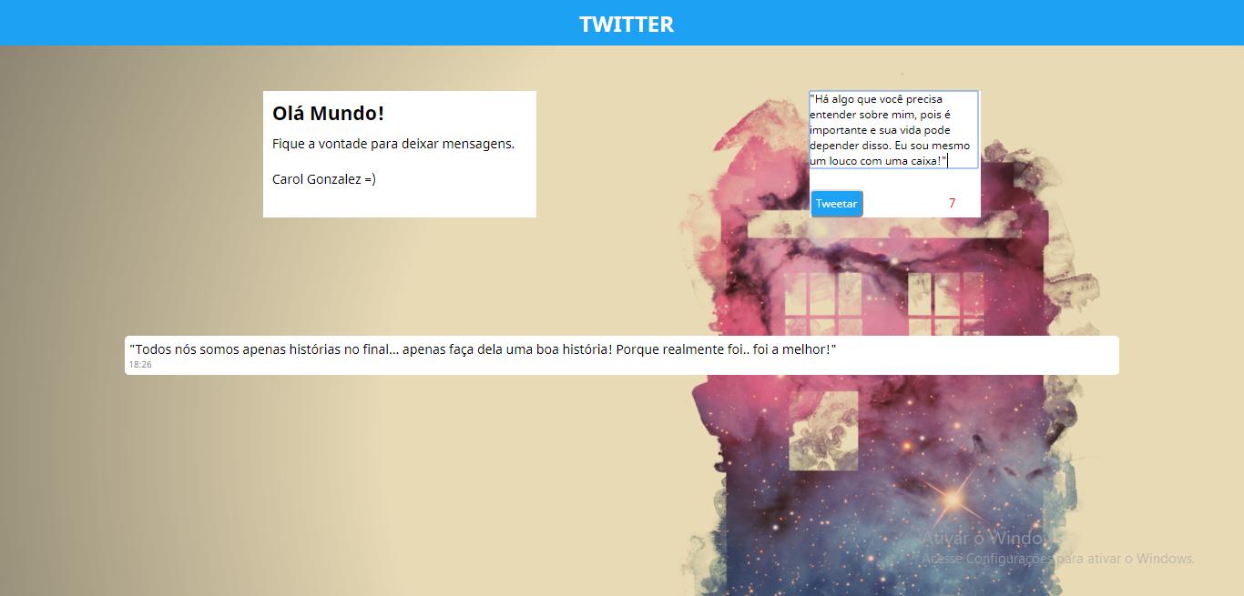 Protótipo do Twitter