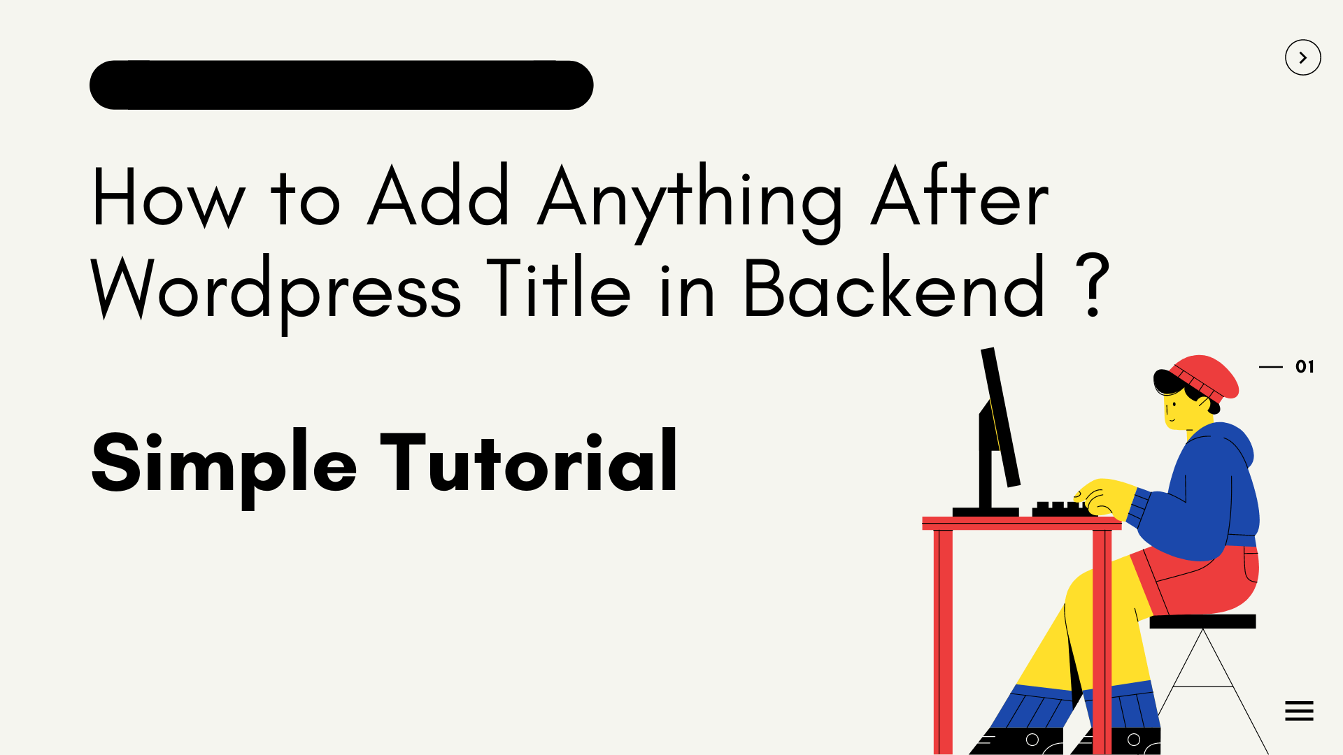 How to Add Anything After Wordpress Title in Backend ?