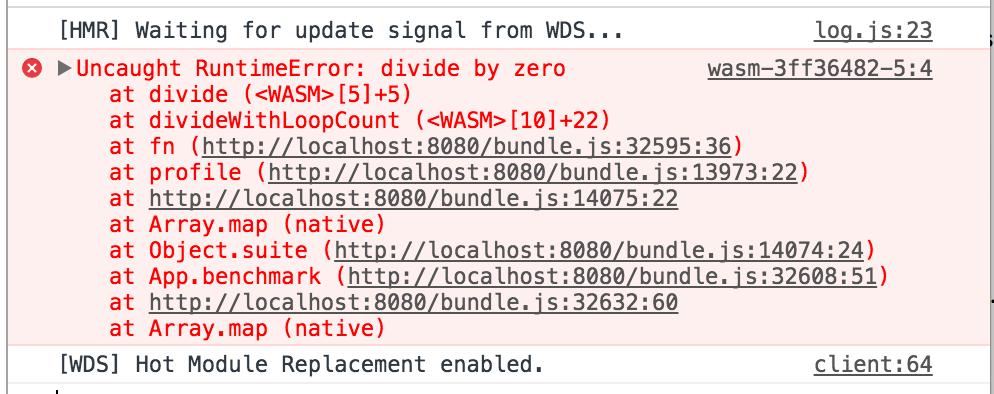 error stack