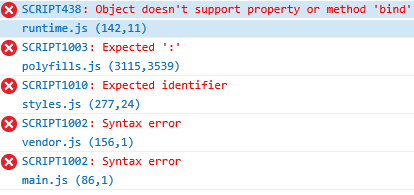 IE11 error when build with production option · Issue #14777