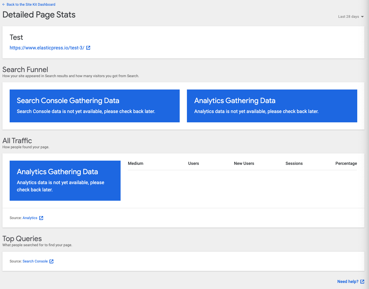 Single page stats: don't show empty traffic table alongside