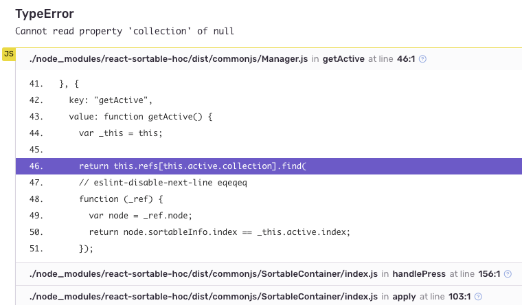 Cannot read property 'collection' of null · Issue #388