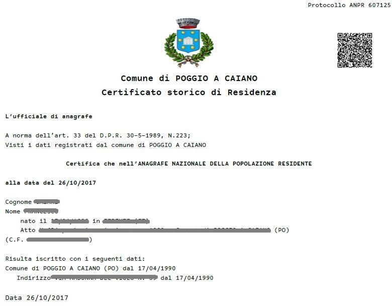 Certificato Residenza Storico Sembra Iscritto Ma E Cancellato