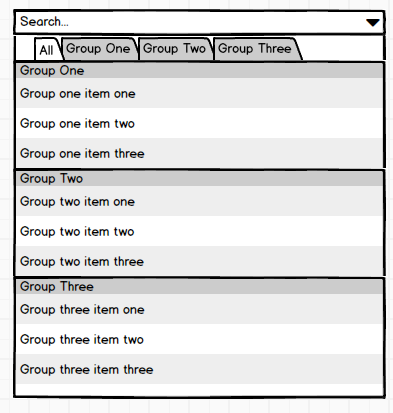 Render grouped options horizontally (as tabs) · Issue #3496