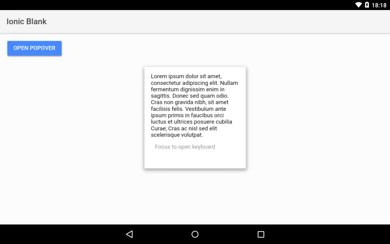 Popover is hidden by the keyboard on Android · Issue #13020